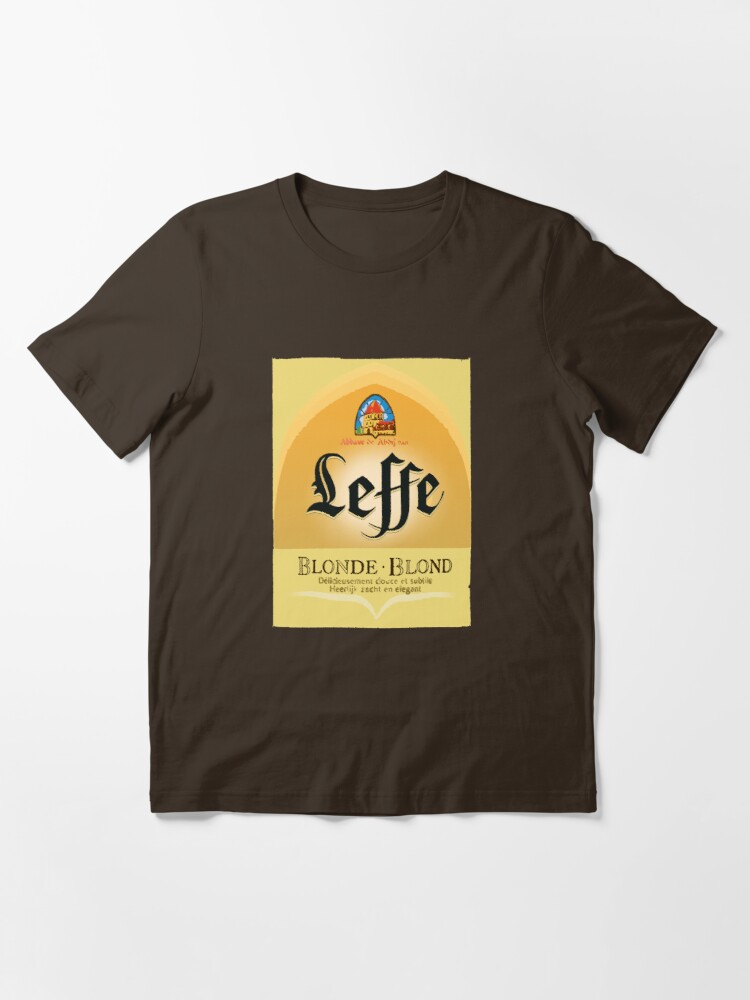 Leffe Blonde Belgian Beer Design T Shirt By Getitgiftit Redbubble