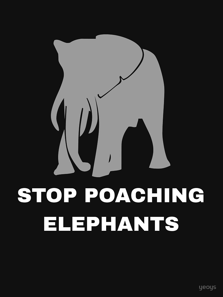 Stop Poaching Elephants - Stop Poaching von yeoys