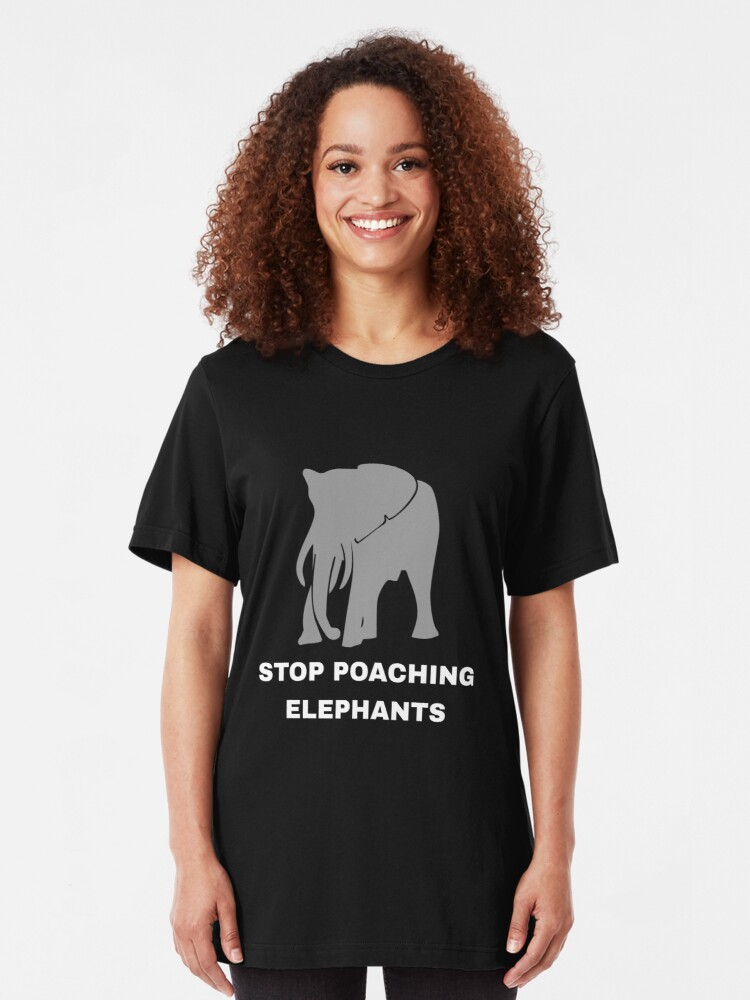 Alternative Ansicht von Stop Poaching Elephants - Stop Poaching Slim Fit T-Shirt