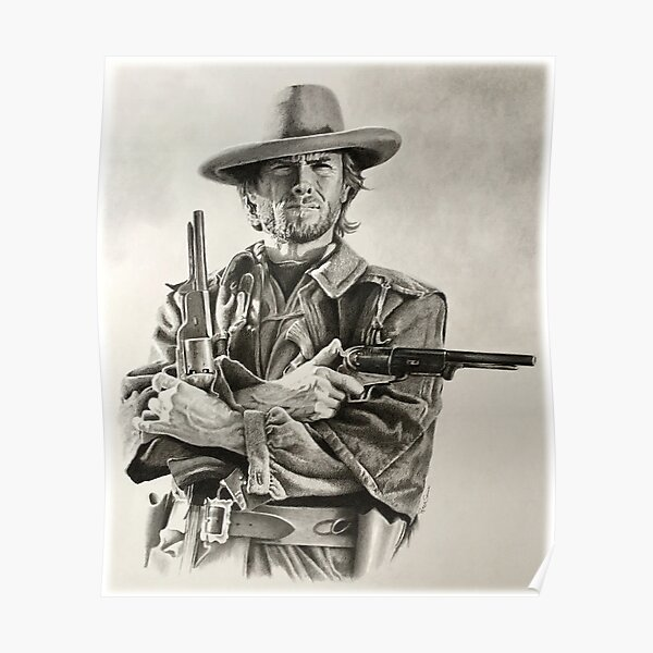 Clint Eastwood sketch  Poster