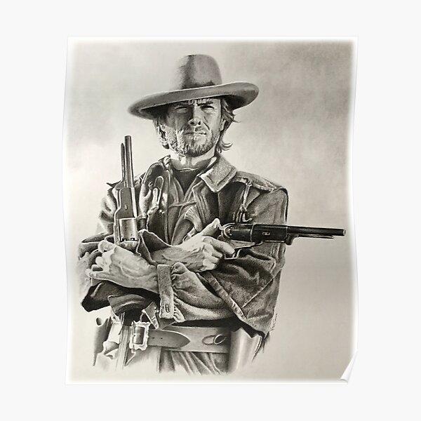 Esquisse de Clint Eastwood Poster
