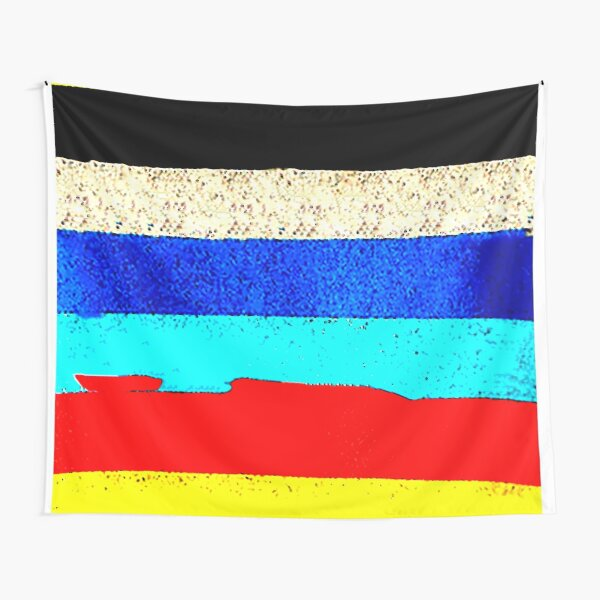 Colourful Horizontal Stripes  Tapestry