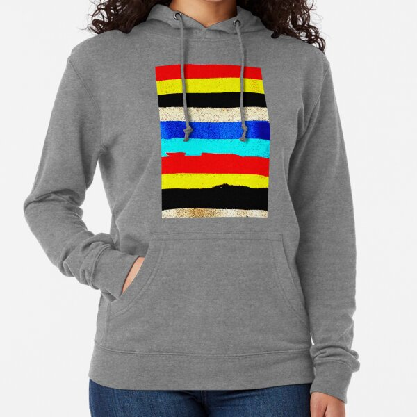 Colourful Horizontal Stripes  Lightweight Hoodie