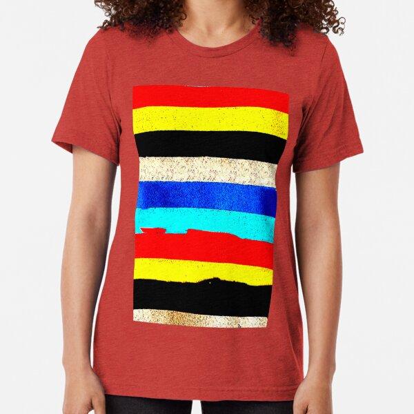 Colourful Horizontal Stripes  Tri-blend T-Shirt