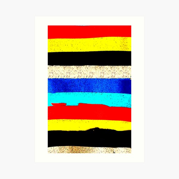 Colourful Horizontal Stripes  Art Print