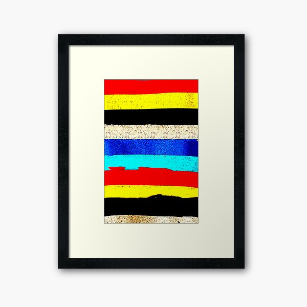 Colourful Horizontal Stripes  Framed Art Print