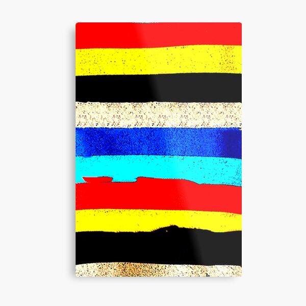 Colourful Horizontal Stripes  Metal Print