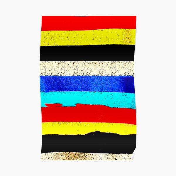 Colourful Horizontal Stripes  Poster
