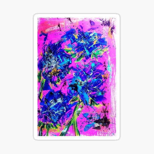 Blossom Blue Sticker
