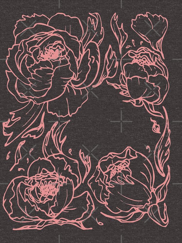 Peony botanical illustration by craftordiy