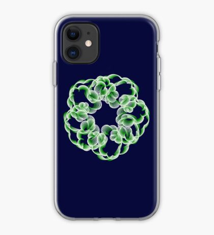 Spirals with Green and White iPhone Case