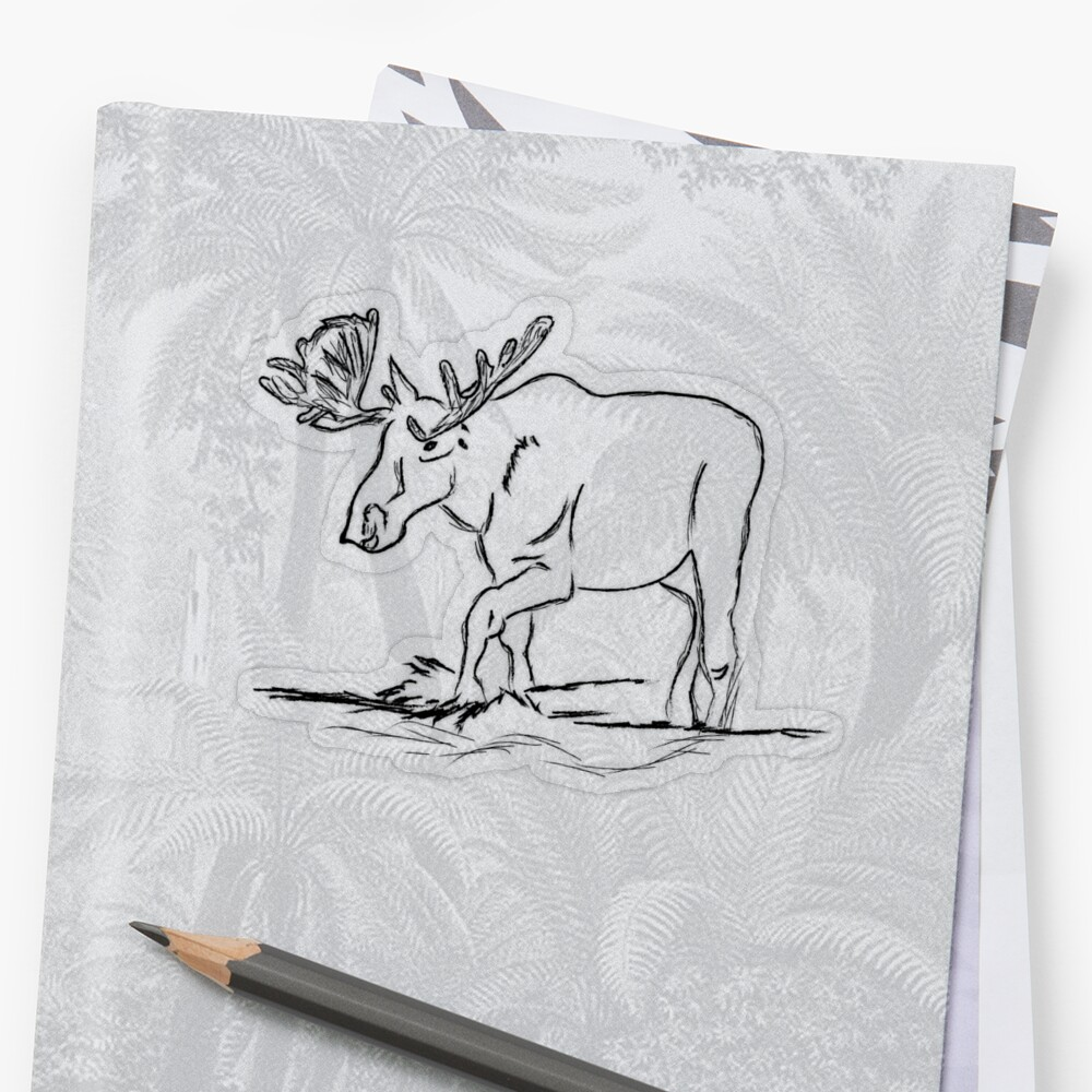 Nomad Moose Sticker