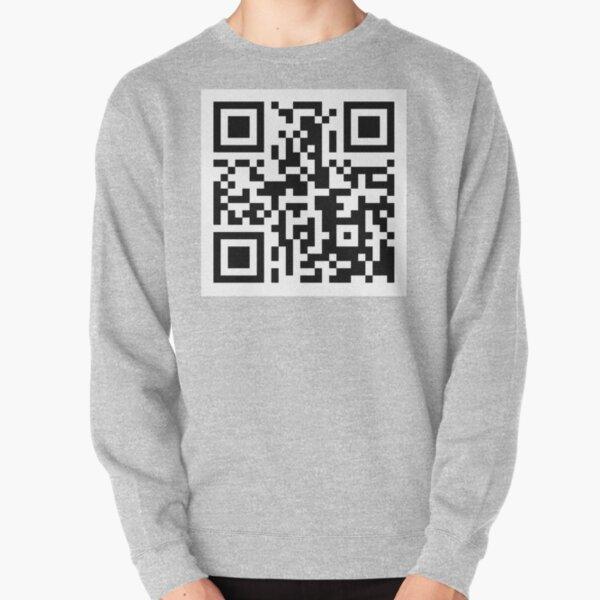 Funny QR Code linking to PornHub Pullover Sweatshirt
