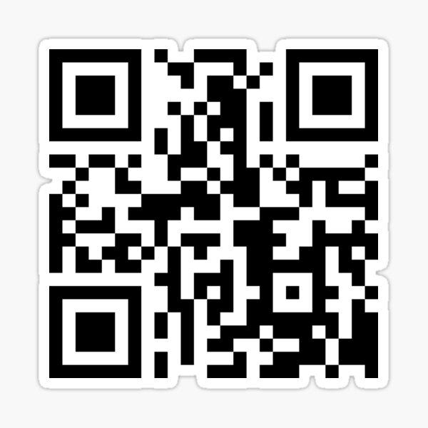 Funny QR Code linking to PornHub Glossy Sticker