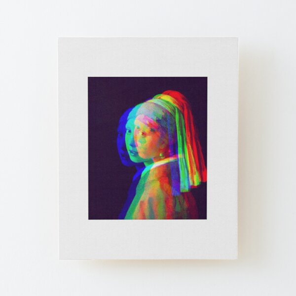 Girl with a Pearl Earring Wood Mounted Print