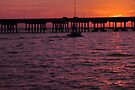 Laishley Pier Sunset, As Is by Kim McClain Gregal