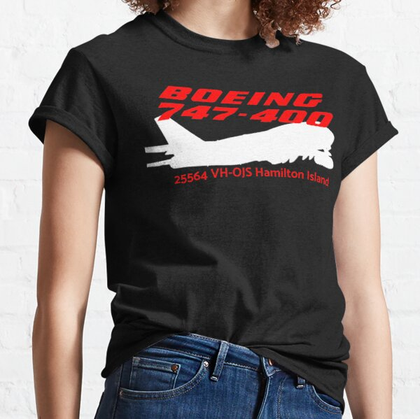 Boeing 747-400 25564 VH-OJS (White)  Classic T-Shirt