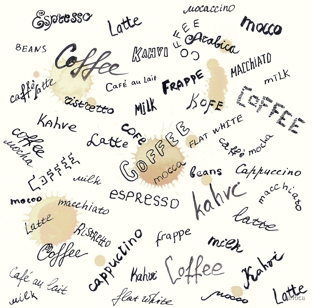 Coffee words background by lantica