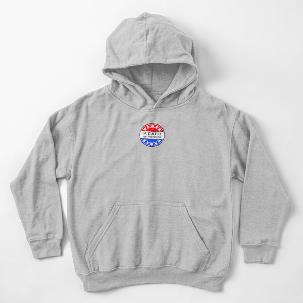 PICARD FOR PRESIDENT Kids Pullover Hoodie