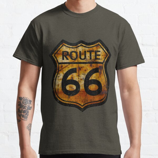 ROUTE 66 RUSTED SIGN Classic T-Shirt