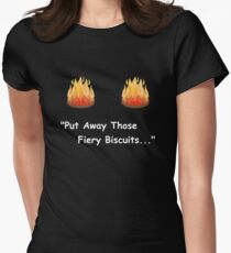 Fiery Biscuits Womens Fitted T-Shirt