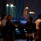 Lightshow on the 'Bund' (外滩) by Rene Fuller