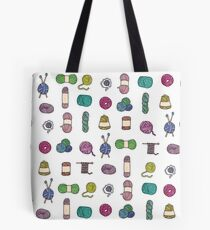 Balls of Yarn - Knitting Watercolor Tote Bag