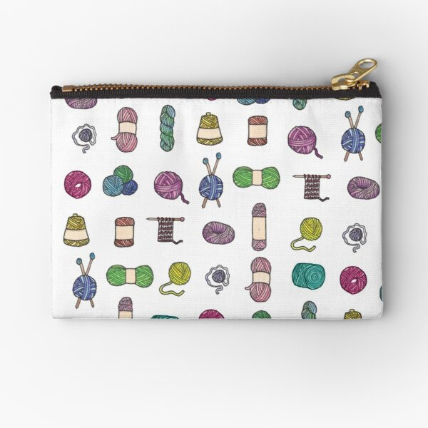 Balls of Yarn - Knitting Watercolor Zipper Pouch
