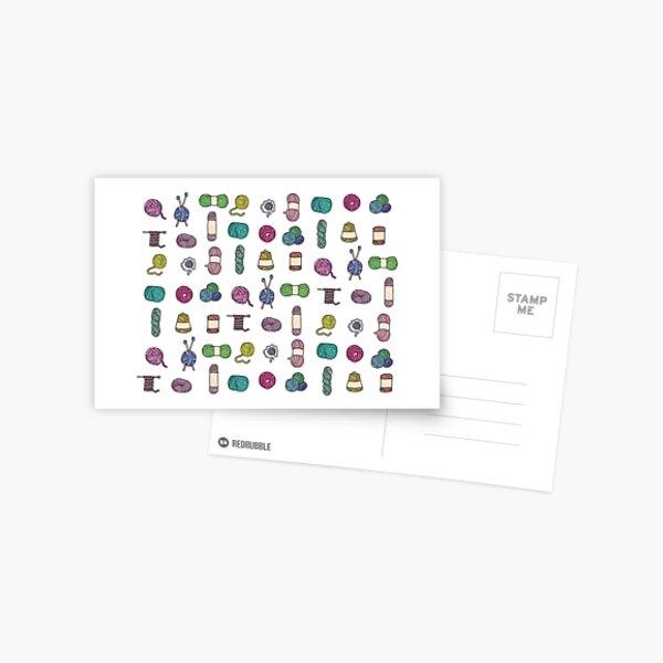 Balls of Yarn - Knitting Watercolor Postcard