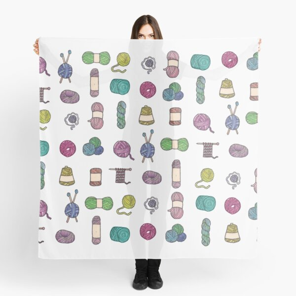 Balls of Yarn - Knitting Watercolor Scarf