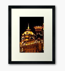 View of a part of Waitan at night Framed Print