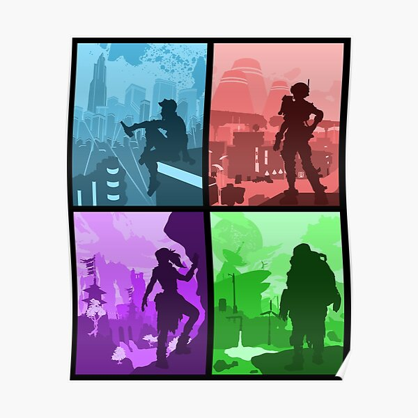 Borderlands 3 Silhouettes Poster