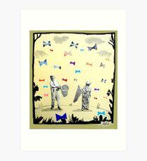 butterflies & bowties Art Print