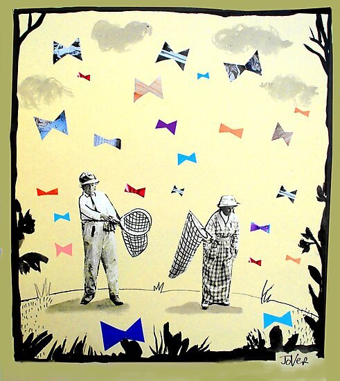 butterflies & bowties by Loui  Jover