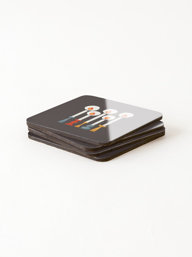 Alternate view of Christmas Retro Candles Coasters (Set of 4)