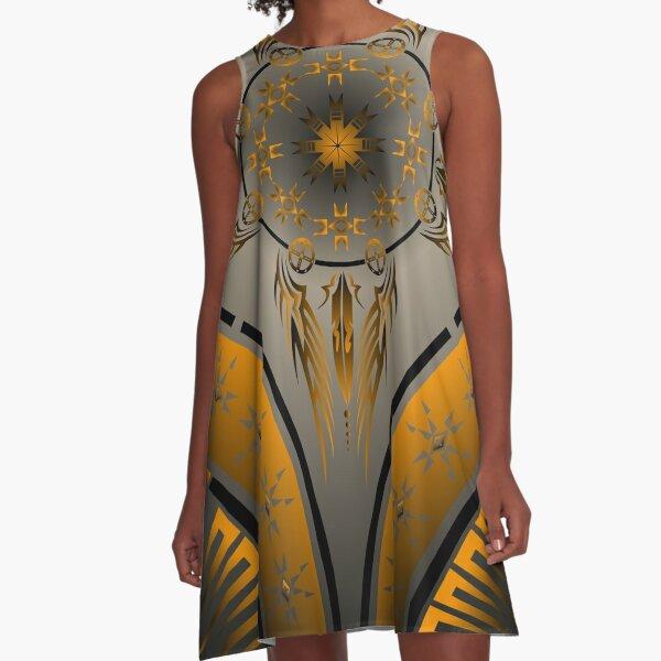 Fire Spirit Orange A-Line Dress