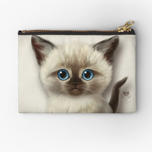 Cataclysm- Siamese Kitten Classic Zipper Pouch