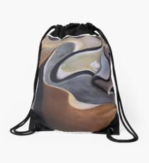 Earth Orchid Drawstring Bag