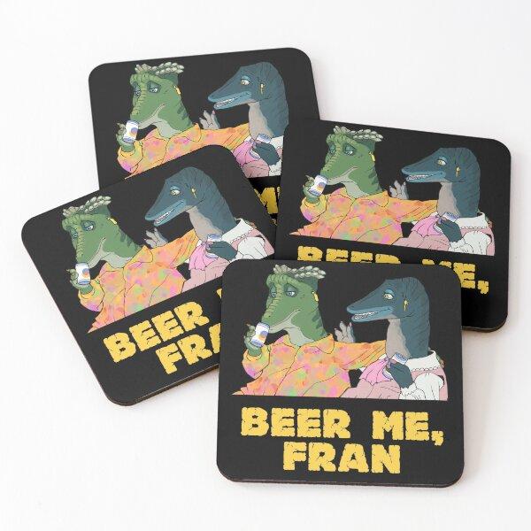 beer me, fran Coasters (Set of 4)