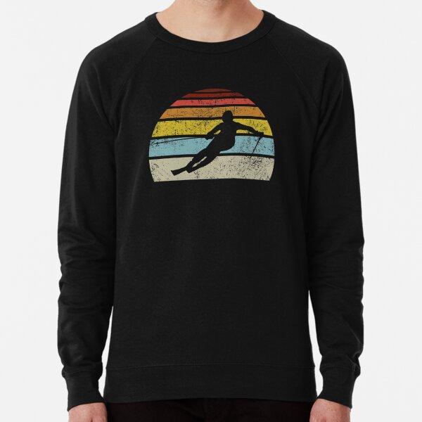 Retro Vintage Downhill Ski T Shirt Lightweight Sweatshirt