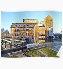 Coxes Lock Mill Building Poster