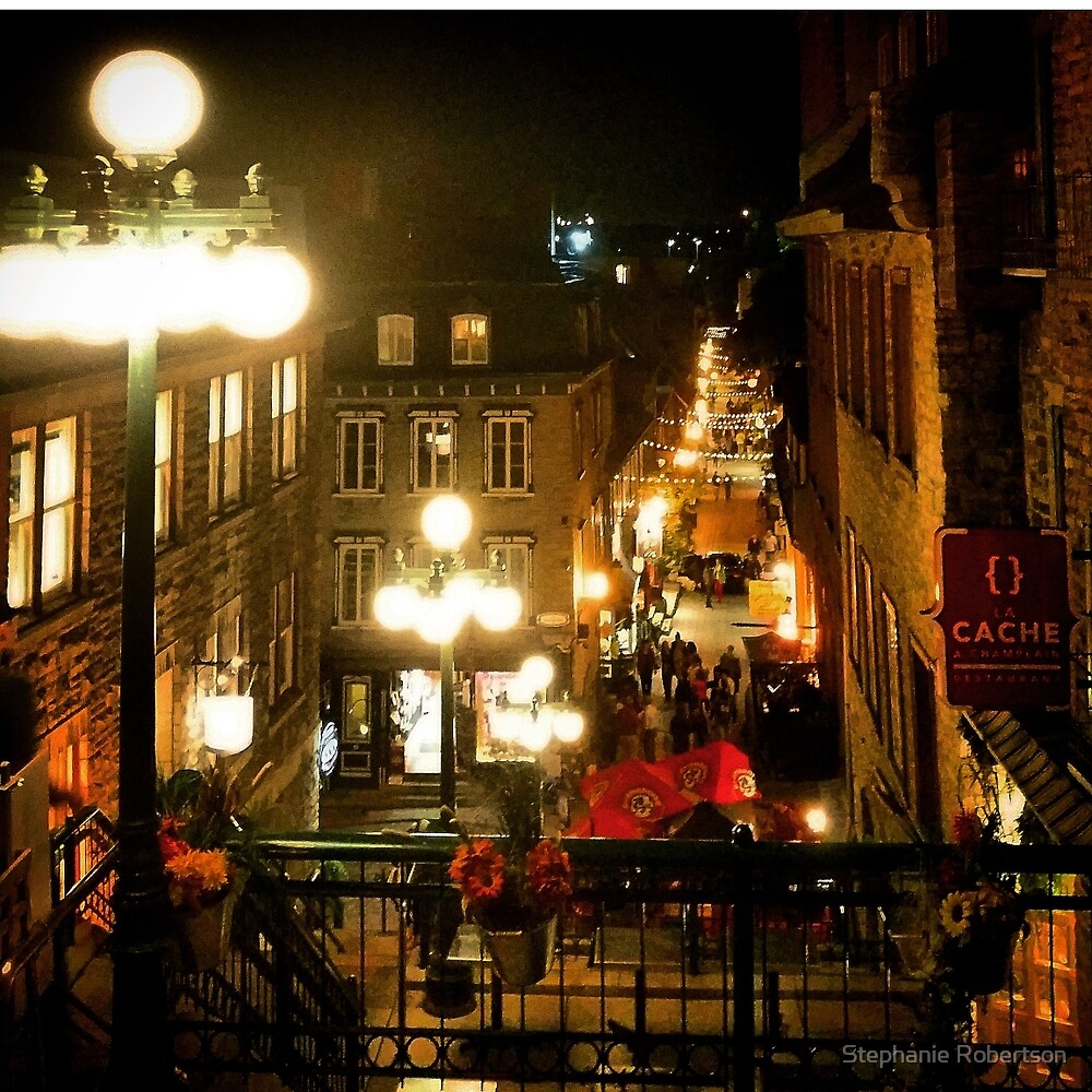 Quebec City - Night View by Stephanie Robertson