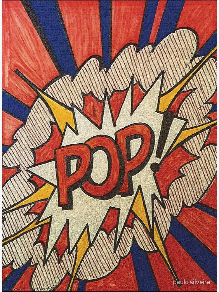 A reworked and vectorised  pop art of Roy Lichtenstein Roy Lichtenstein Pop Cover Study from 1966  by hypnotzd