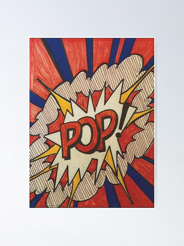 Alternate view of A reworked and vectorised  pop art of Roy Lichtenstein Roy Lichtenstein Pop Cover Study from 1966  Poster
