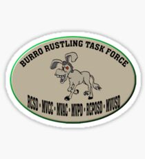 Burro Rustling Task Force Sticker