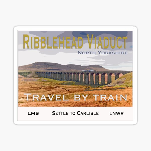 Ribblehead Viaduct Vintage Poster Sticker