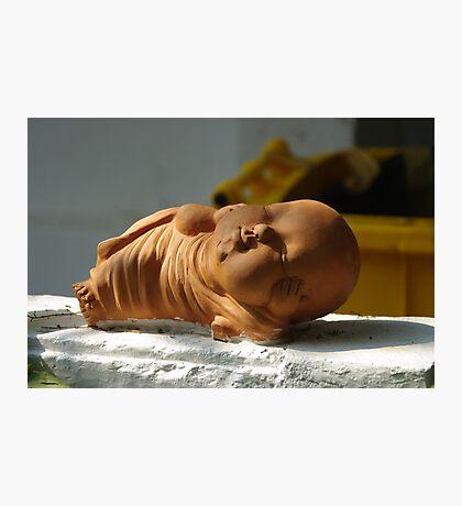 Terracotta Reclining Buddha  Photographic Print