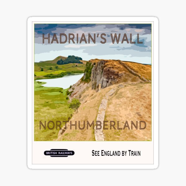 Vintage Poster, Hadrian's Wall Sticker