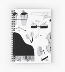 Instrumentos para tocar música salsa Cuaderno de espiral