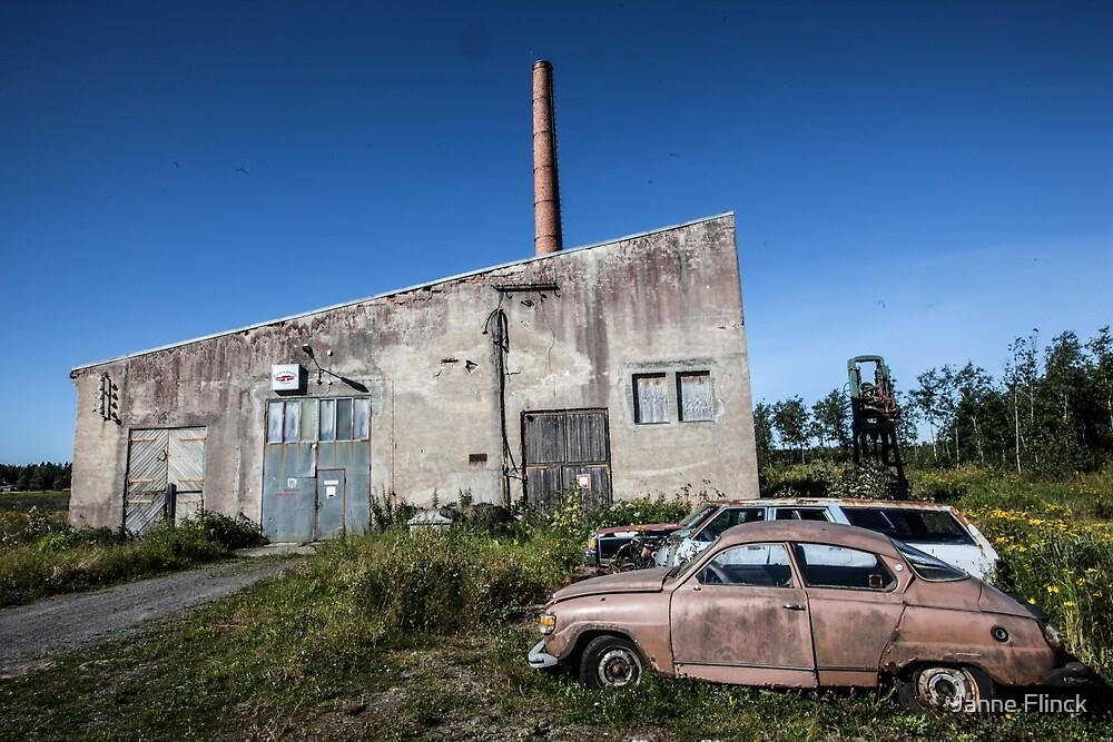 Sawmill & Car of Decay by Janne Flinck